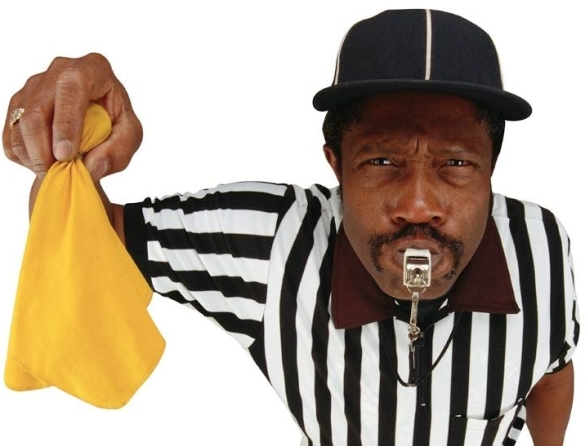 Football official penalty flag