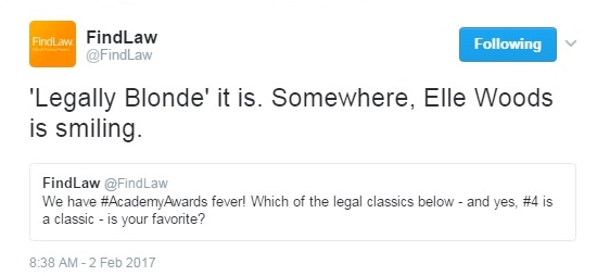 Legally Blonde wins FindLaw legal classics poll_really
