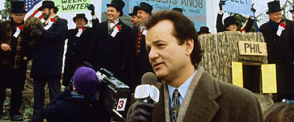 Bill Murray in 1993 movie Groundhog Day
