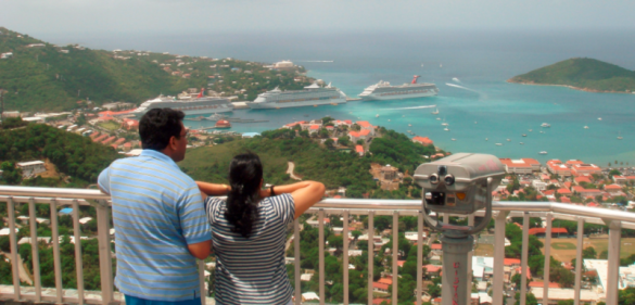 Skyline Overlook in St Thomas US Virgin Islands