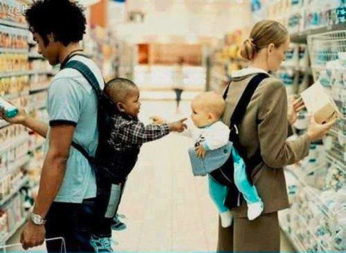Babies connecting cropped