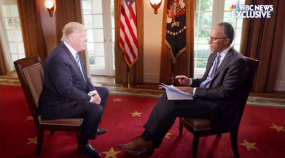 Trump extended interview Lester Holt NBC News May 11 2017