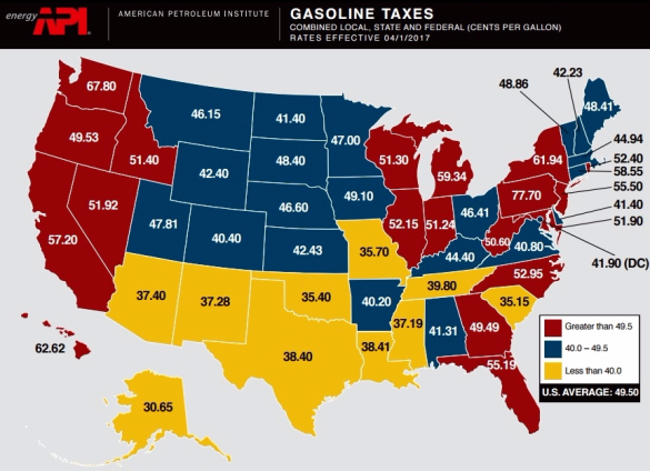 API April 2017 gas tax map