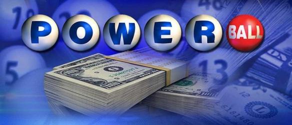 Powerball and money stacks