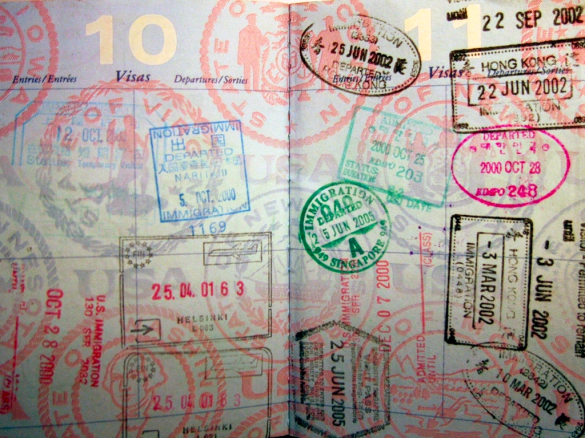 Passport stamps_hjl via Flickr CC
