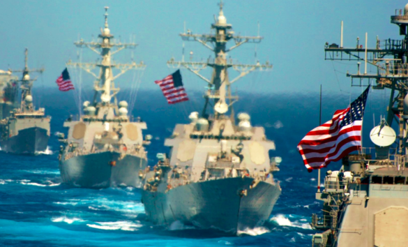 US Navy ships flying flags to celebrate Flag Day