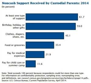 Noncash support provided by noncustodial parent_US Census Bureau 2014 report