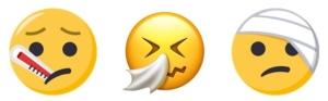 Emoji sick combo