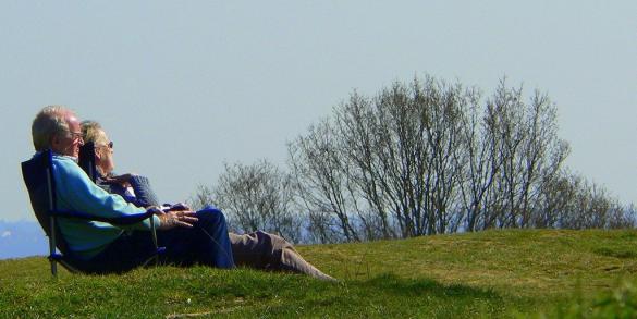 Retirees enjoying a lazy day outdoors-left_Pug50 via Flickr