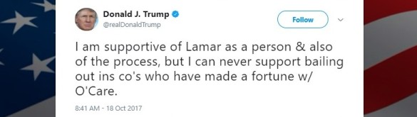 Trump ocare Oct 18 subsidies tweet